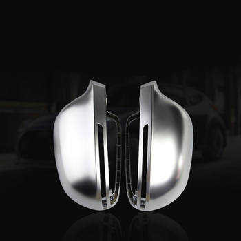 Rearview Side Mirror Cover Caps for Audi B8 A3 A4 A5 S5 A6 S6 Q3 S4 Electroplated matte mirror housing modified Tremella
