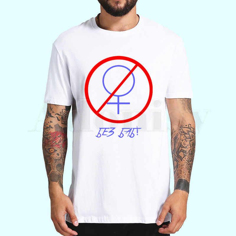 Uomini di modo di Marca T-Shirt Divertente Lettera Russo No Senza Donne Della Stampa Gay Pride Simbolo Femminile di Estate Pantaloni A Vita Bassa Magliette E Camicette Magliette