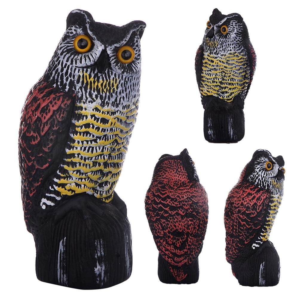 Fake Realistic Owl Hunting Decoy Statue Yard Garden Scarecrow Ornament