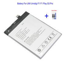 Batterie de remplacement de téléphone portable, 1x5150mAh S3 Pro pour UMI Umidigi F1 Play S3 Pro + Kits d'outils de réparation