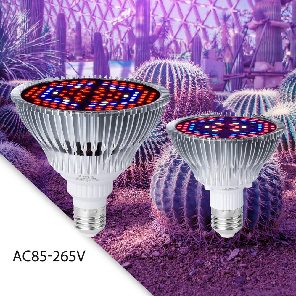 Phyto Lamp E27 Plant Grow LED Light 30W 50W 80W Fitolamp Full Spectrum Growing Lights AC85-265V For Plants Seedling Cultivation