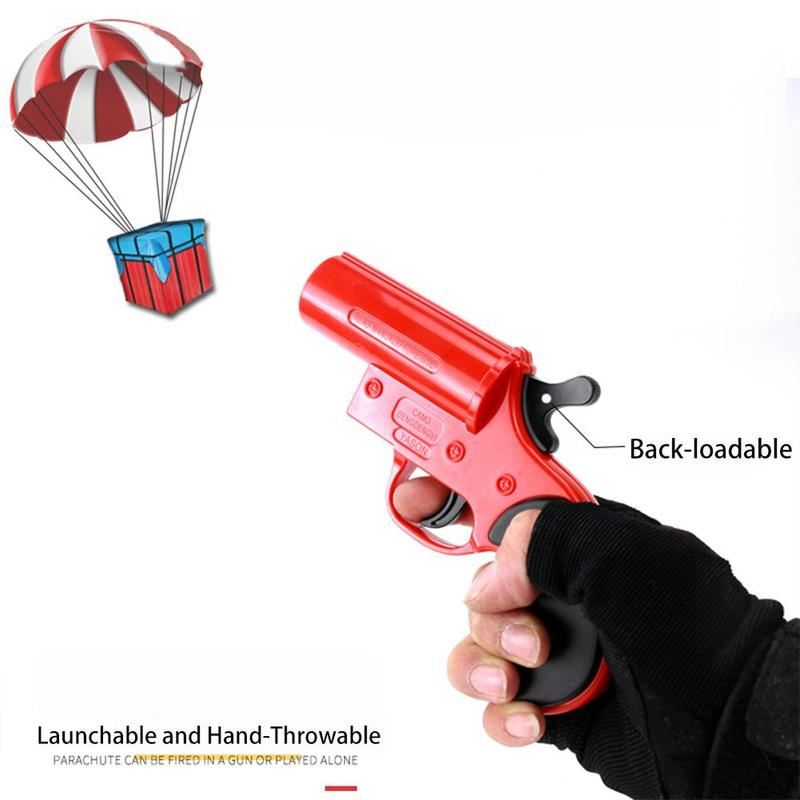 Eating Chicken Game Toy Rescue Signal Water Bomb Launching Parachute Parent-child Interactive Toy Gun Gift Toys(China)