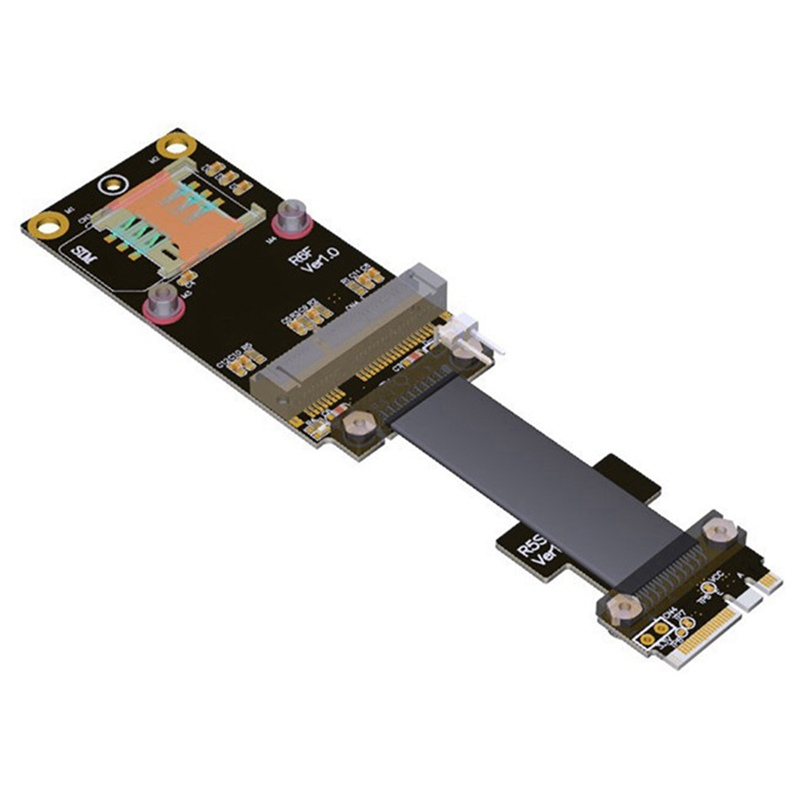 MPCIe to M.2 Key A.E. Extension Cable , Mini Pcie MPCI-E Card to NGFF M2 A.E. Slot Extension Adapter Cable