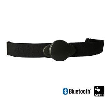 Bluetooth & Ant+ Heart Rate Monitor Chest Strap Belt work w/ iPhone Polar Garmin Bryton iGPSPORT Suunto Cycling Computer Watch