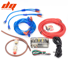 10GA Автомобильный усилитель сабвуфера кабель питания аудио динамик провод RCA Комплект проводов усилитель монтажный комплект 60A предохранитель высокий до низкий набор