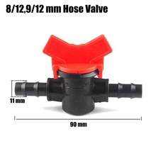 20pcs 8/12 9/12mm Water Hose Valve Garden Farm Micro Irrigation System Pipe Fittings Connectors Mini Ball