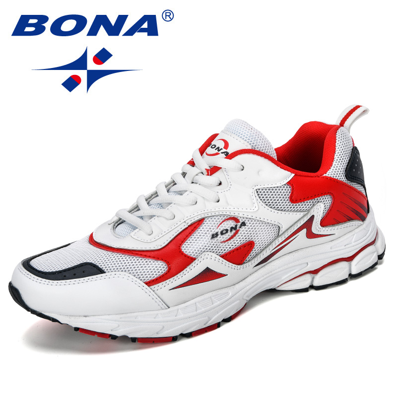 BONA 2019 New Designer Men Mesh Sneakers High Quality Man Non Slip Casual Shoes Outdoor Leisure Shoes Male Comfortable Trendy