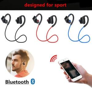 Image 3 - Su geçirmez alev kablosuz kulaklık Bluetooth spor kulaklık gürültü iptal kulaklık mikrofon için iphone X Xiaomi Andriod için