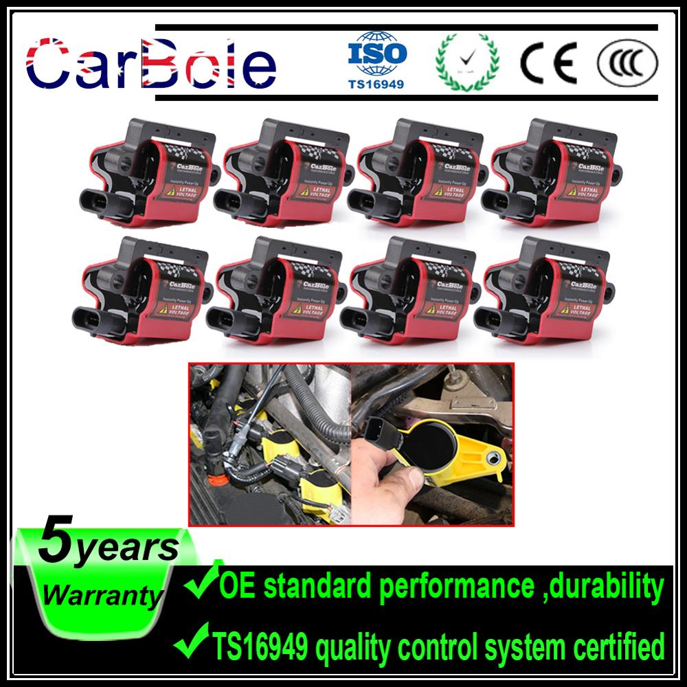 Carbole 8 PCS UF271 Square Ignition Coils For GMC For Chevrolet Express 1500 2500 3500 For Workhorse Fastrack Ft1061 UF-271