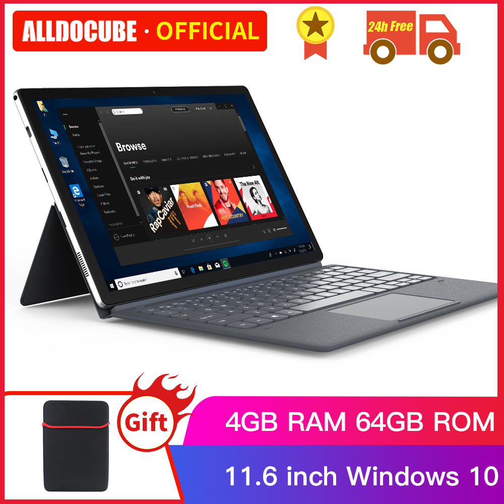 ALLDOCUBE KNote Go 11.6 Inch Tablets 2 In 1 Intel HD 1920*1080 IPS Screen 4GB RAM 64GB ROM Touch Notebook Tablet PC