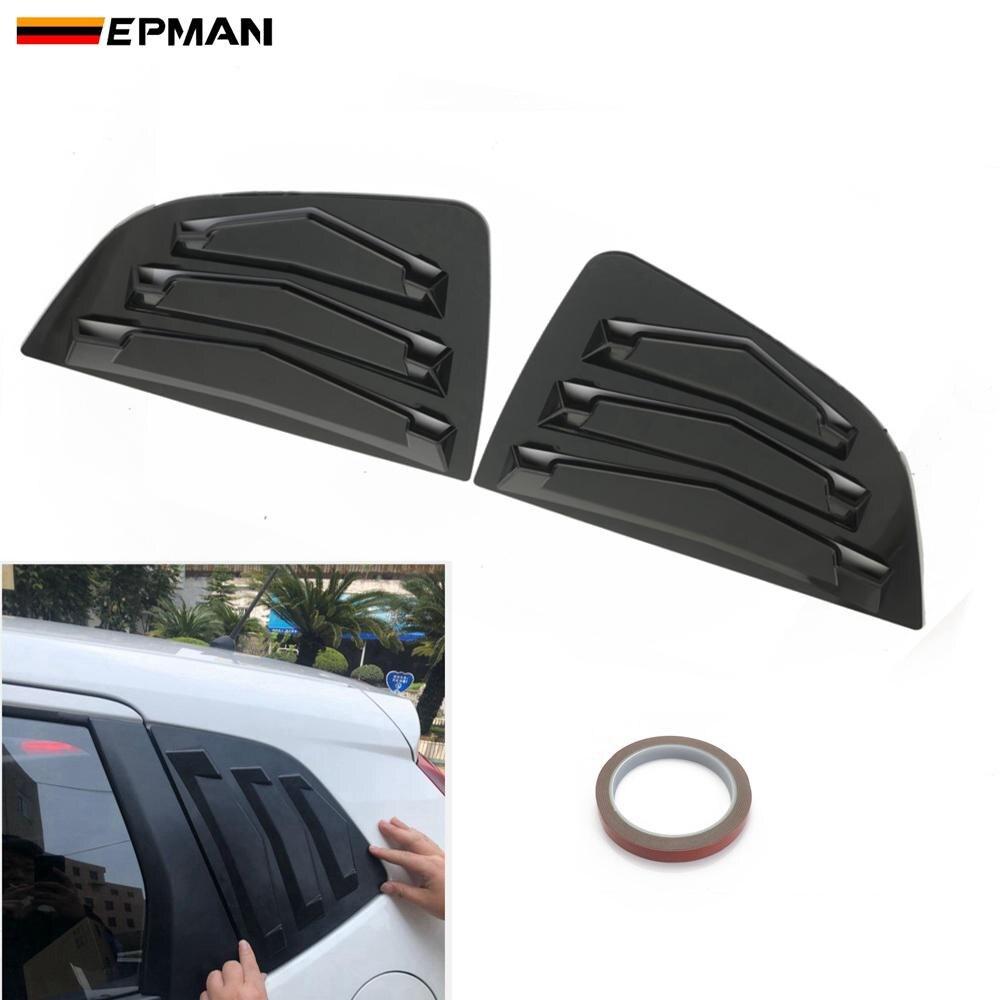 EPMAN 2pcs/set For Honda Fit 15-18 Hatchback Rear Quarter Window Louver Spoiler Panel Decoration Bonnet Vent Sticker EP-TFBFIT15