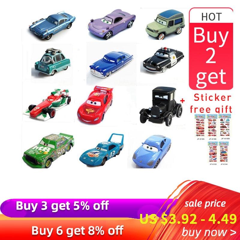 Disney Pixar Car Lightning McQueen Family Jackson Storm Ramirez 1:55 DieCast Metal Alloy Car Action Figure Toys Christmas Gift