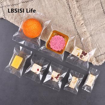 Ibsisi Life 100 sztuk grubsze przezroczyste ciasteczka cukierki gorące uszczelnienie torby małe ciasto nugat pakiet mała żurawina maszyna szczelnie zamykana torebka tanie i dobre opinie LBSISI Life CN (pochodzenie) Z tworzywa sztucznego litera Transparent Hot Seal Bags Przeprowadzka Przejście na emeryturę