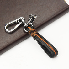 Handmade Leather Car Keychain Key Holder Home Ring Man and Woman Waist Hanging Chains Motorcycle Auto Car-styling Access