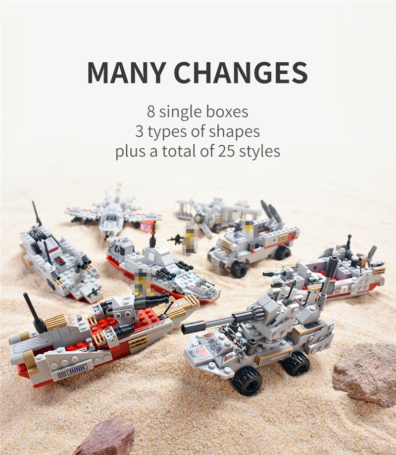 1000+ PCS Military Warship Navy Aircraft Army Figures Building Blocks LegoINGlys Army Warship Construction Bricks Children Toys (5)