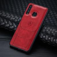 2021 PU funda de silicona para Huawei P30 Lite Nova 4 disfrutar Max Funda de cuero para Huawei Honor 8X 20 Max Lite Nota 10 caso