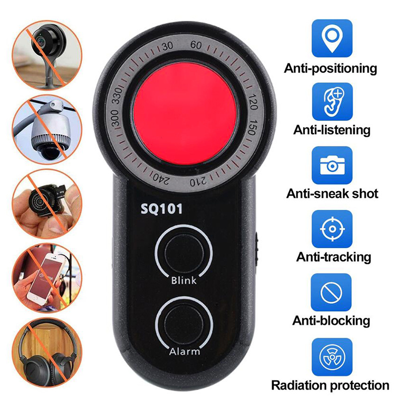 Anti Candid Camera Detector Multi-function Anti-spy Detector Camera Audio Bug Finder Signal Lens RF Tracker Detect Wireless 2019