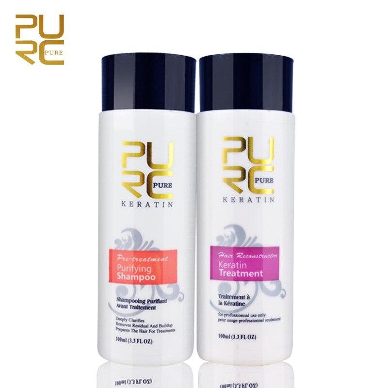 5% Keratin Hair Repair Treatment Hair Straighten Purifying Shampoo For Straightening Damage Hair Supple Smooth Hair Care