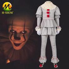 Pennywise Costume Stephen Kings It Cosplay  Clown Joker costume suit Halloween Costumes for Men Custom made
