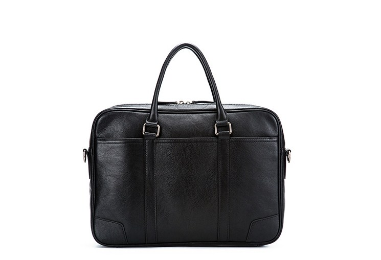 Genuine Leather Large Capacity Office Business Bag Laptop Briefcase For Men