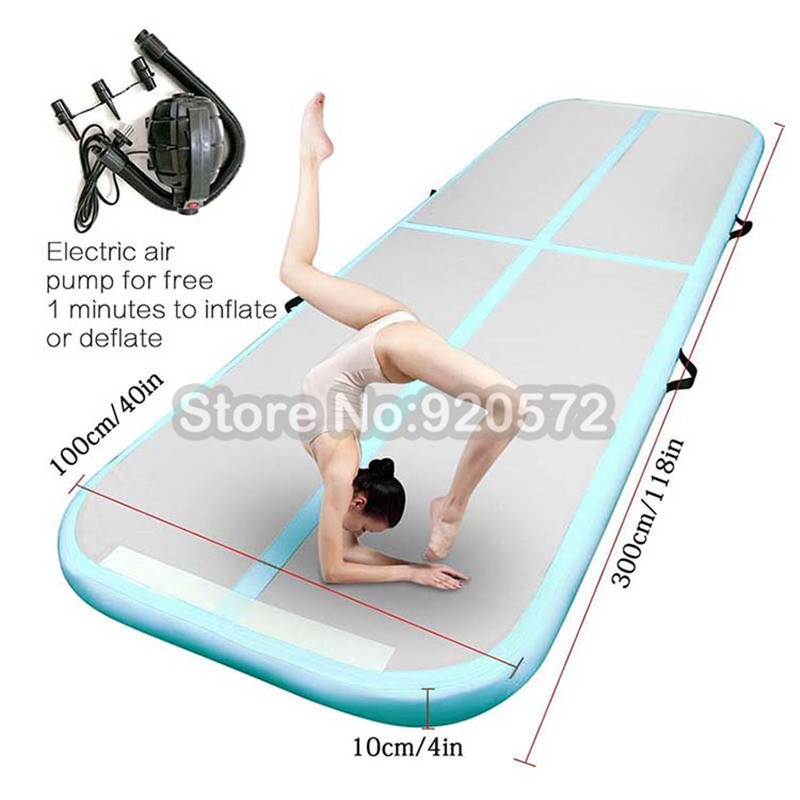 Free Shipping 3*1*0.1m Inflatable Tumble Track Trampoline Air Track Gymnastics Inflatable Air Mat For Sale