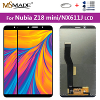 5.7 Original For ZTE Nubia Z18 Mini NX611J NX611J/H Display Touch Screen Digitizer Assembly Parts Free Shipping 100% Testing