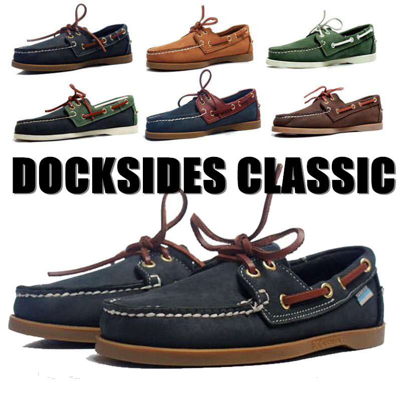Mens Casual Genuine Nubuck Leather Docksides Deck Hemme Femme Moccain Suede Boat Loafers Driving Unisex Plus Size Men Shoes X109