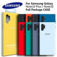 Custodia per Samsung Note 10 Plus Cover posteriore morbida in Silicone liquido originale custodia per Samsung galaxy S10 Plus Note10/Note 10 per galaxy Note10