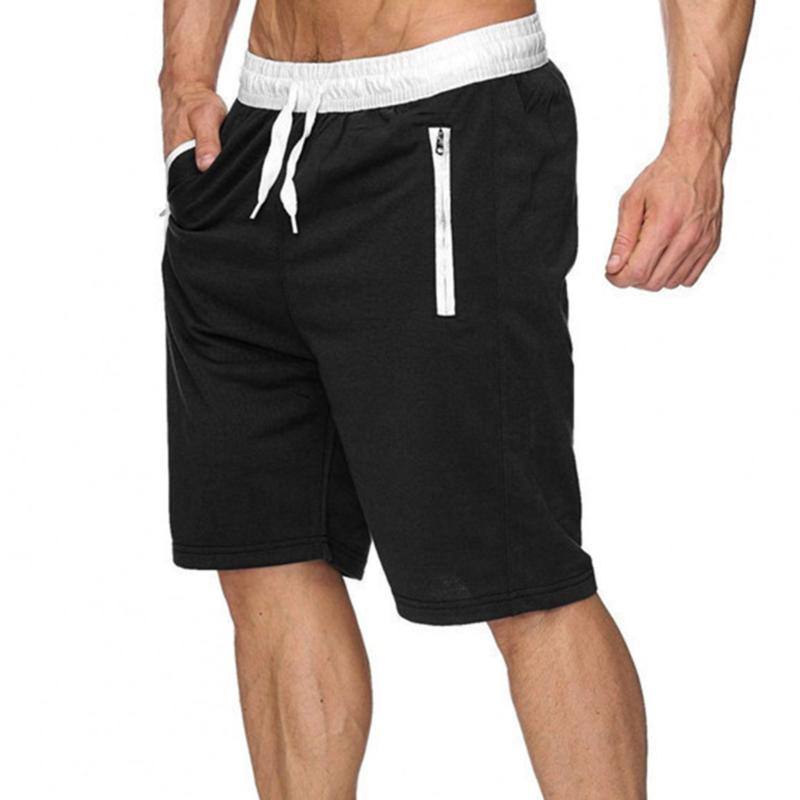 New Fashion Mens zipper Shorts Male Sweatpants Fitness Bodybuilding Workout Men Leisure Shorts masculino 2021 Spring Summer