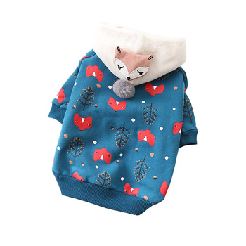Cute Pet Cat Dog Clothes Winter Pet Coat Warm Dog Hoodie Clothes  For Small Dogs Pets Clothing Soft Pet Apparel French Bulldog