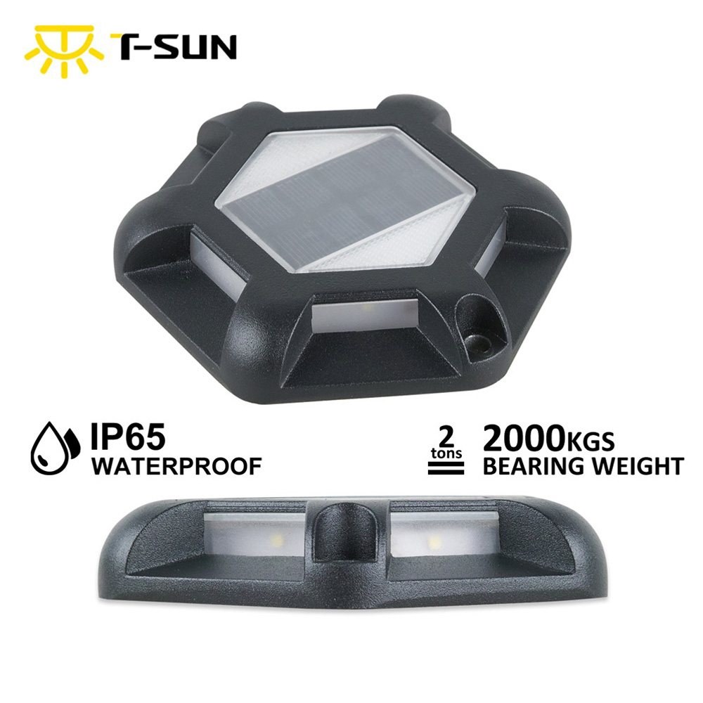 T-SUN 6LEDS 3000k/6000k Solar Light Outdoor Solar Lawn Lamps IP65 Waterproof Underround Lamp For Garden Path Floor Stairs
