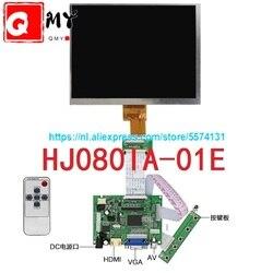 8 polegada tela lcd HJ080IA-01E 1024*768 ips hd display lcd + hdmi/vga/av placa de controle motorista