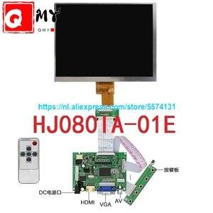 8 inch lcd screen HJ080IA-01E 1024*768 IPS hd LCD Display + HDMI/VGA/AV Control Driver Board(China)