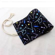 Kawaii School Roll Pencil Case for Girls Boys Pencilcase Korean Big 36/48/72 Holes Penal Black Star Cartridge Pen Bag Stationery(China)