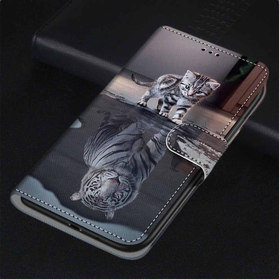 עור Flip Funda חמוד Fasion טלפון מקרה עבור תיבת Xiaomi Redmi הערה 3 4 4X 5A 5 פרו 6 פרו 7 8 פרו Redmi ללכת Y2 S2 זאב אריה DP08F