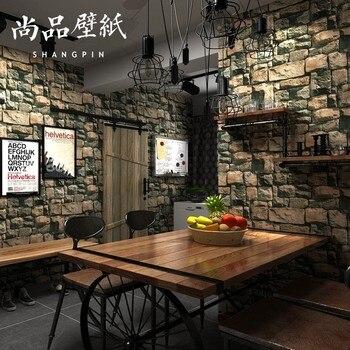 3D Brick Pattern Wallpaper Culture Brick Imitation Marble Stone Living Room Wall Brick Antique Brick Wallpaper Bricks