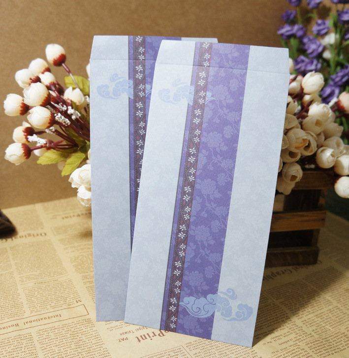 Traditional Chinese-style Chinese Style No. 5 Verticle Chinese Style Retro Envelope Of Xiangyun Purple