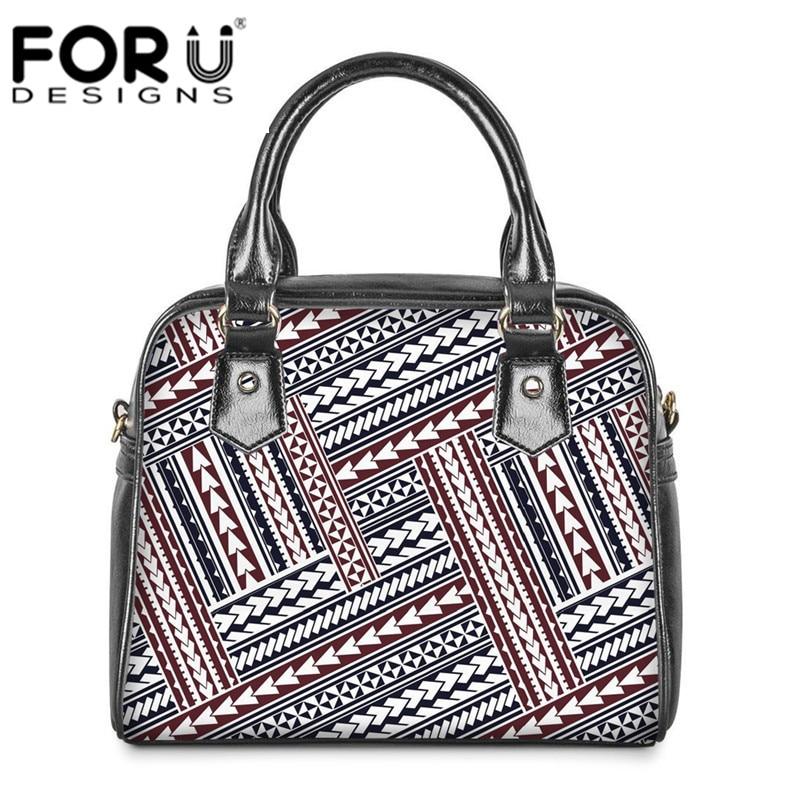 FORUDESIGNS Polynesian Traditional Printed Crossbody Bag for Female Luxury Handbag Shoulder Bags Casual Totes Bolsa Feminina