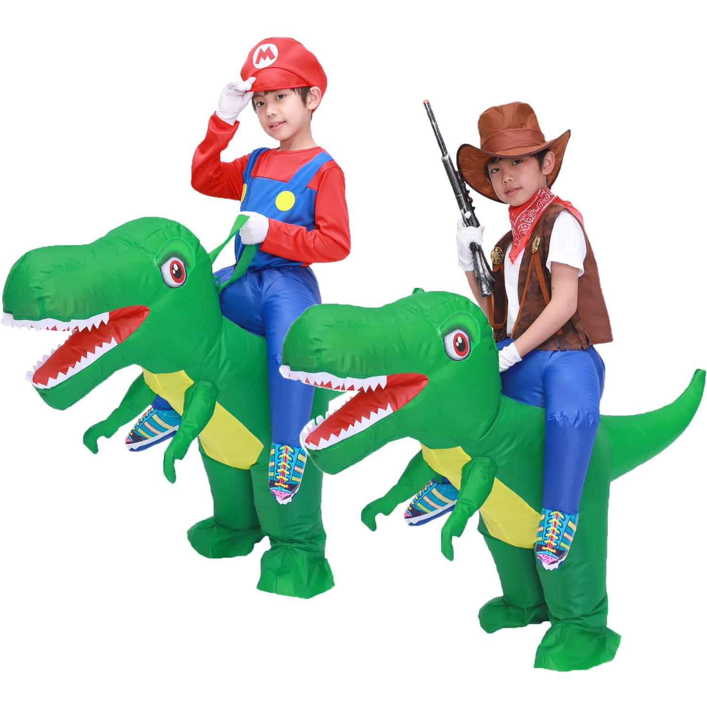 Kinder Kind Aufblasbare T Rex Dinosaurier Kostüm Cosplay Mädchen Jungen Fahrt Dinosaurier Halloween Purim Party Aufgeblasen Bekleidungs Disfraces