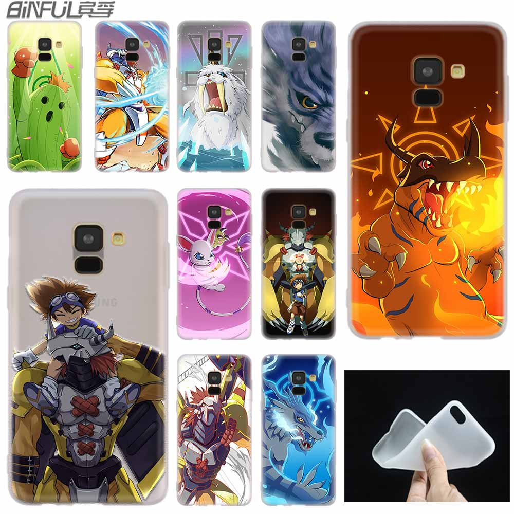 Digimon Japanese anime case Silicone cover For Samsung A10 A20 A30 A40 A50 A70 A31 A41 A51 A71 a10s S E Note 8 9 10 Pro image