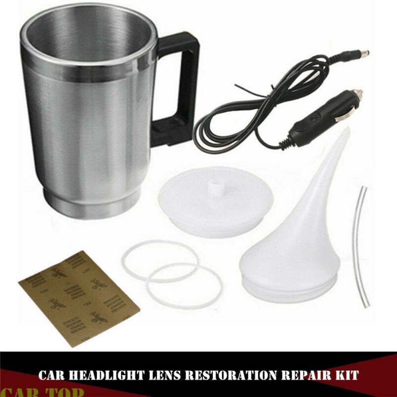 Professional Car Headlight Lens Restoration Repair Kit Polishing Cleaner Cup Set Headlight Refurbished Heating Cup Restore Kit