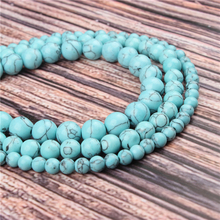Natural Stone Light Blue Pine 15.5 PicBlue Peacockk Size 4/6/8/10/12mm fit Diy Charms Beads Jewelry Making Accessories