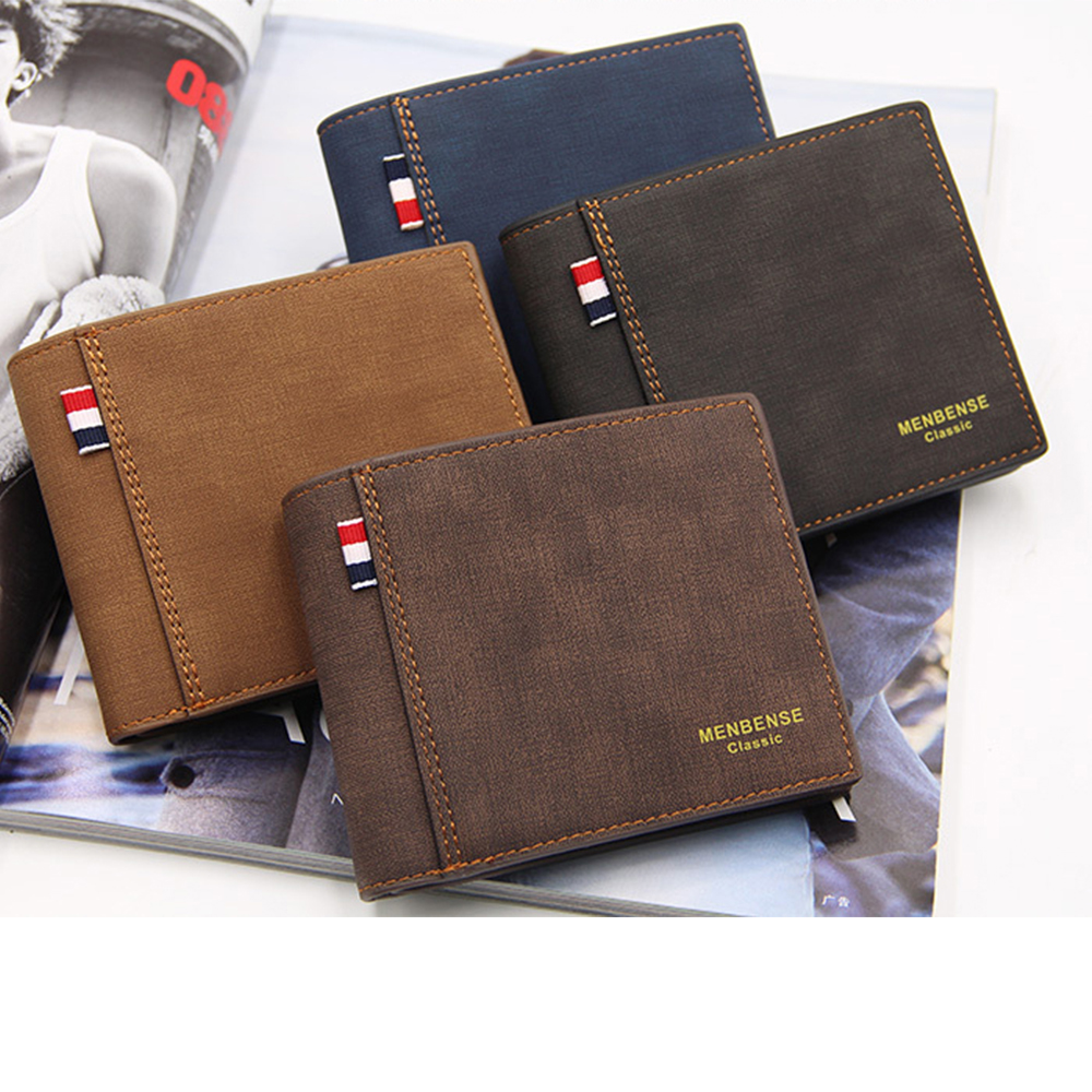 Frosted Pu Leather Fashion Men Wallets Small Wallet Men Money Purse Coin Bag Zipper Short Male Wallets Card Holder Purse Money
