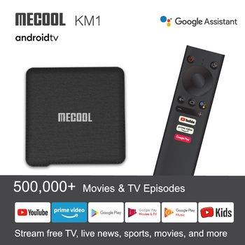 Google Certified TV box MECOOL KM1 Smart TV Box Amlogic S905X3 4GB 64GB Android 9.0 BT4.2 5G WiFi Voice Control 4K Set Top Box
