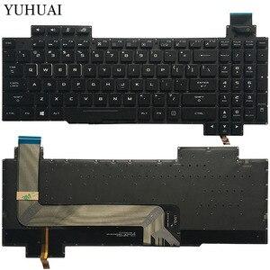 Nowy US podświetlana klawiatura do laptopa Asus ROG Strix GL503 GL703 GL503V GL503VD GL503VD-DB71 GL503VD-DB74 GL503VM GL503VS