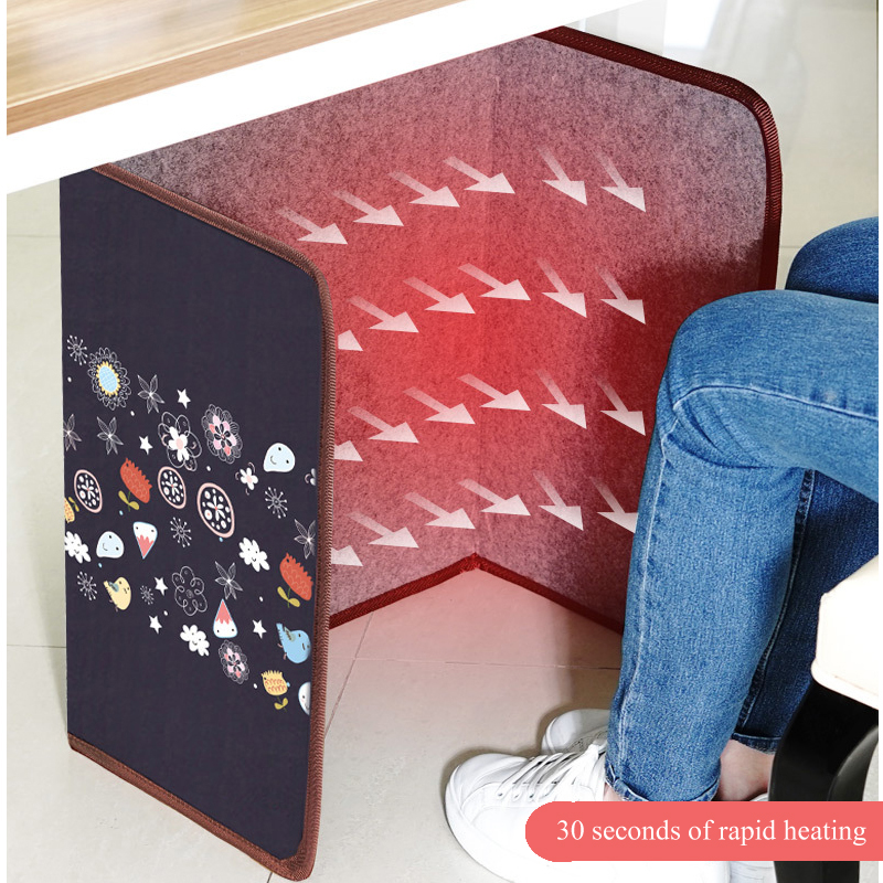 Heater Electric Heating Foldable Thermostat Small Electric Foot Warmer Foot Feet Warmer Heating Mat Old Man Gift Winter