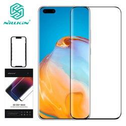 Do szkła P40 Pro Plus szkło 3D DS + Max szkło hartowane do szkła For Huawei P40 Nilkin HD
