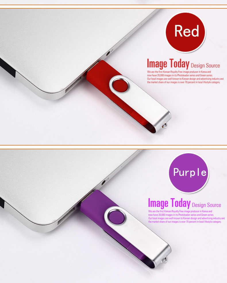 OTG USB Flash drive Girevole Esterno USB 2.0 Pen drive 128GB 64GB 32GB 16GB 8GB 4GB ad alta velocità pendrive Creativo pendrive