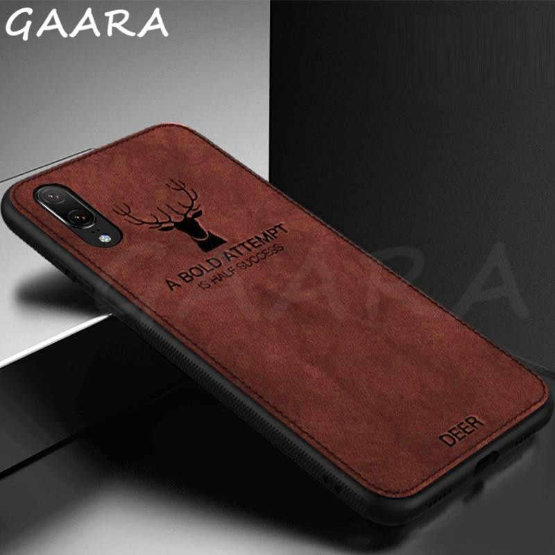 Роскошный чехол для телефона с рисунком лося чехол для iPhone 6 6s 7 8 Plus Гибридный тканевый тонкий мягкий чехол для iPhone X XS Max XR etui