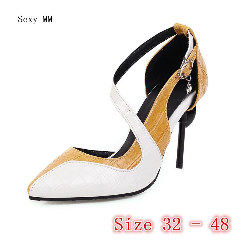 Women High Heels Pumps High Heel Shoes Stiletto Woman Party Shoes Kitten Heels Plus Size 32 33 - 40 41 42 43 44 45 46 47 48